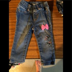 Gap Minnie Mouse Bow Jeggings Size 18-24 M